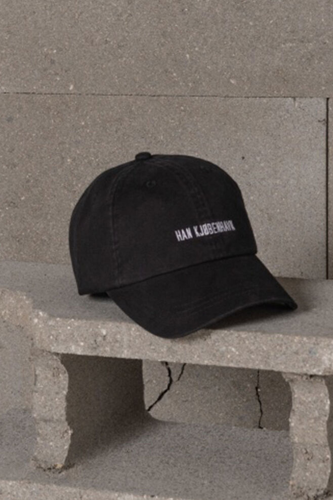 Cotton cap A-120030, BLACK LOGO