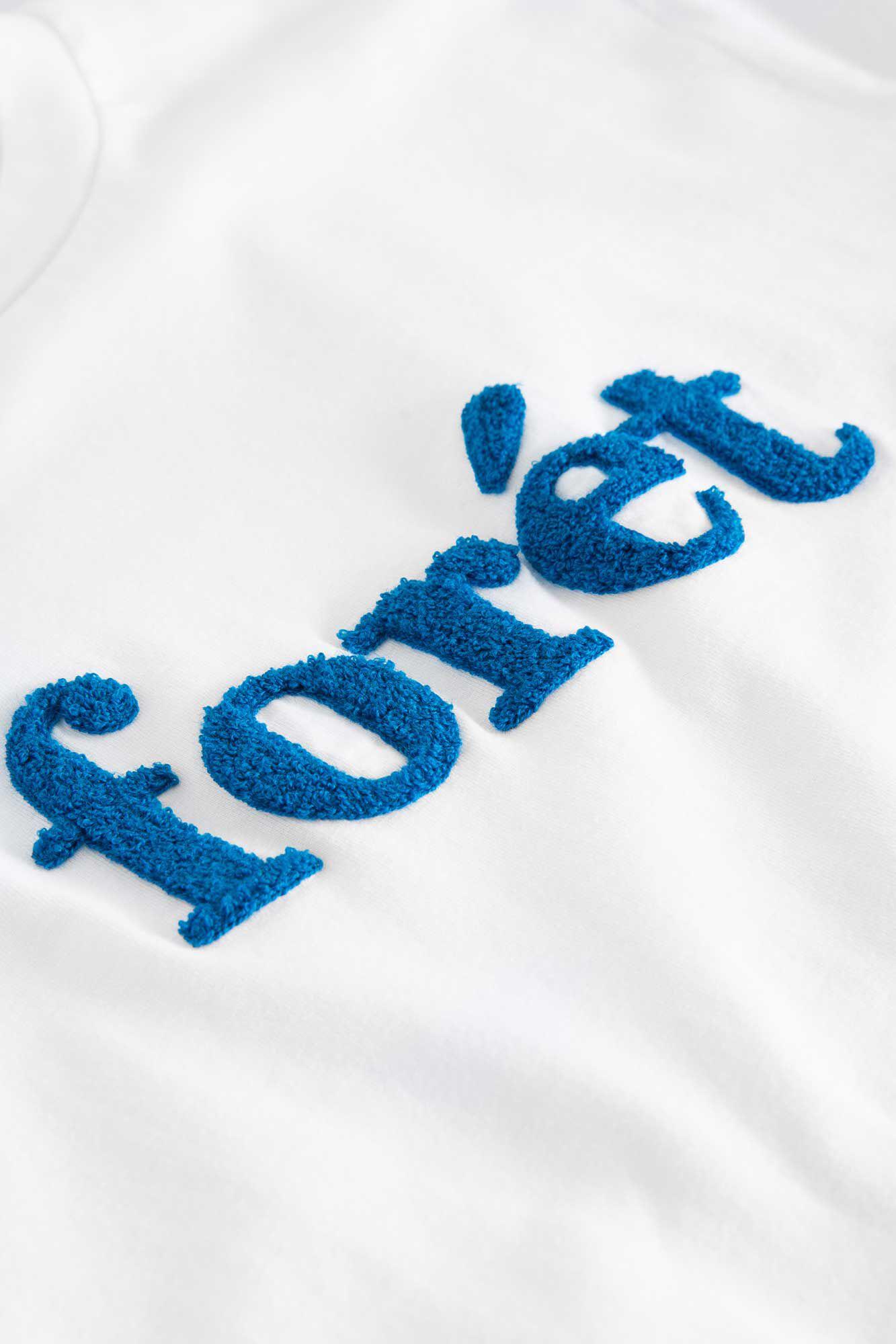 Log T-shirt 403, WHITE/BLUE
