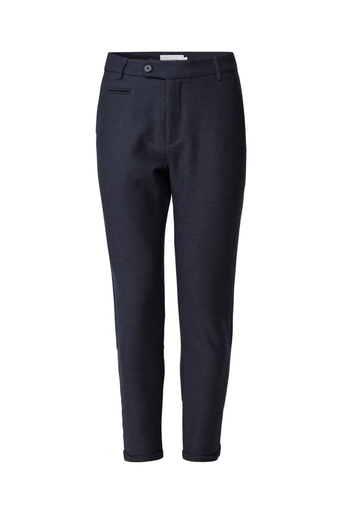 Como wool pants LDM501017, DARK NAVY