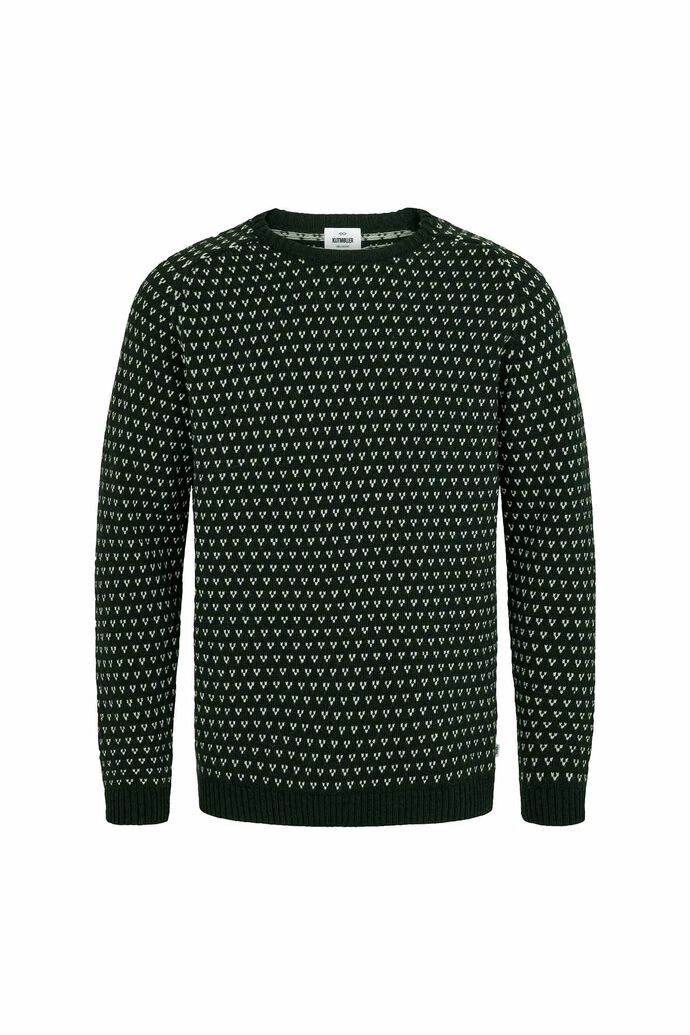 Hugo knit, OLIVE/CREAM