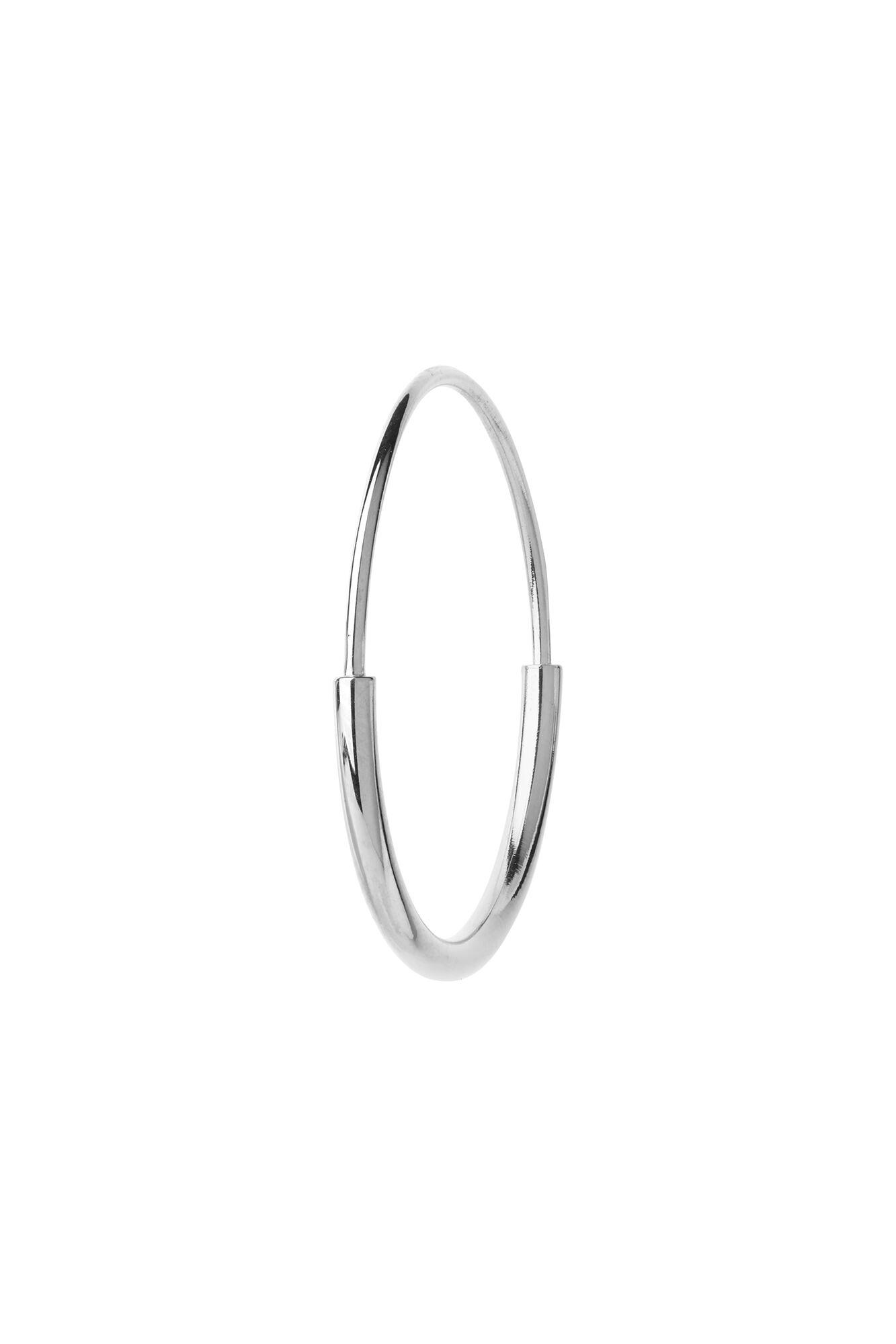 Delicate hoop 22 earring, SILVER