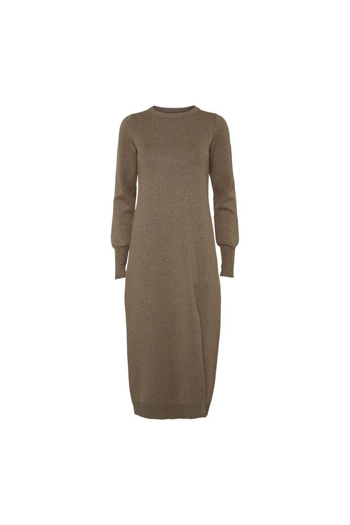 Quinn knit dress 11861537, LIGHT BROWN MELANGE