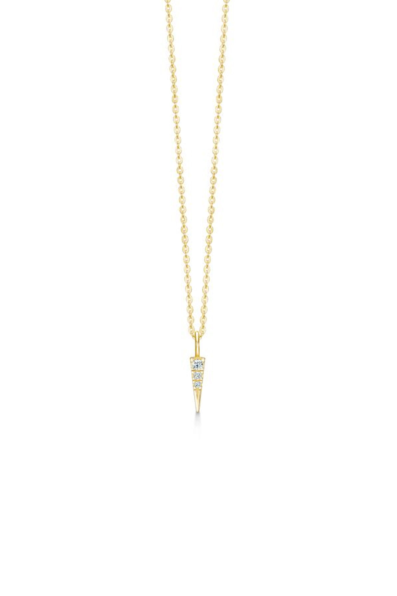 Glace necklace IDN013GD, GOLD/WHITE