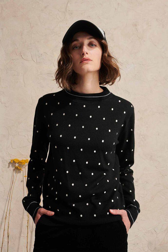 Stephanette dots 02128WS, BLACK