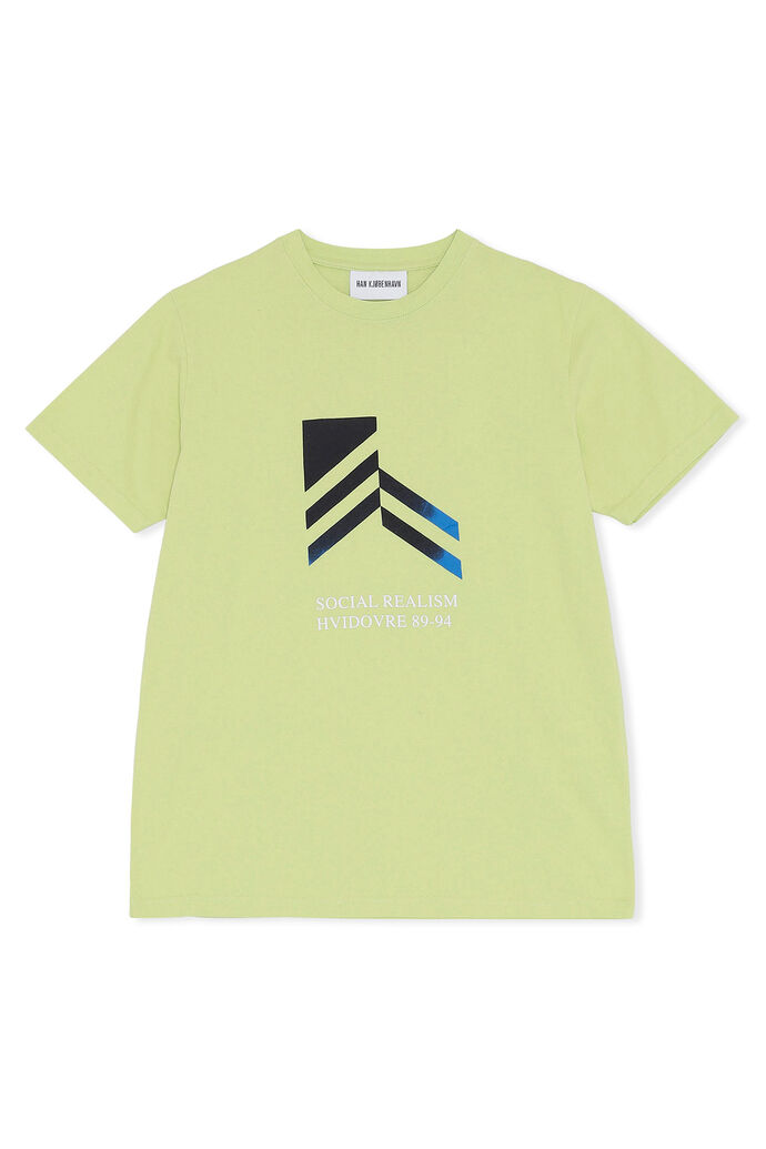 Artwork tee M-130169, FADED LIME