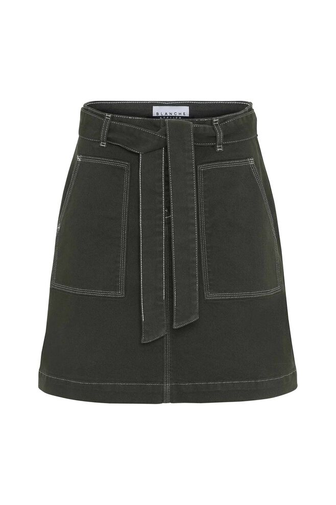 Aby skirt 84040, DARK OLIVE