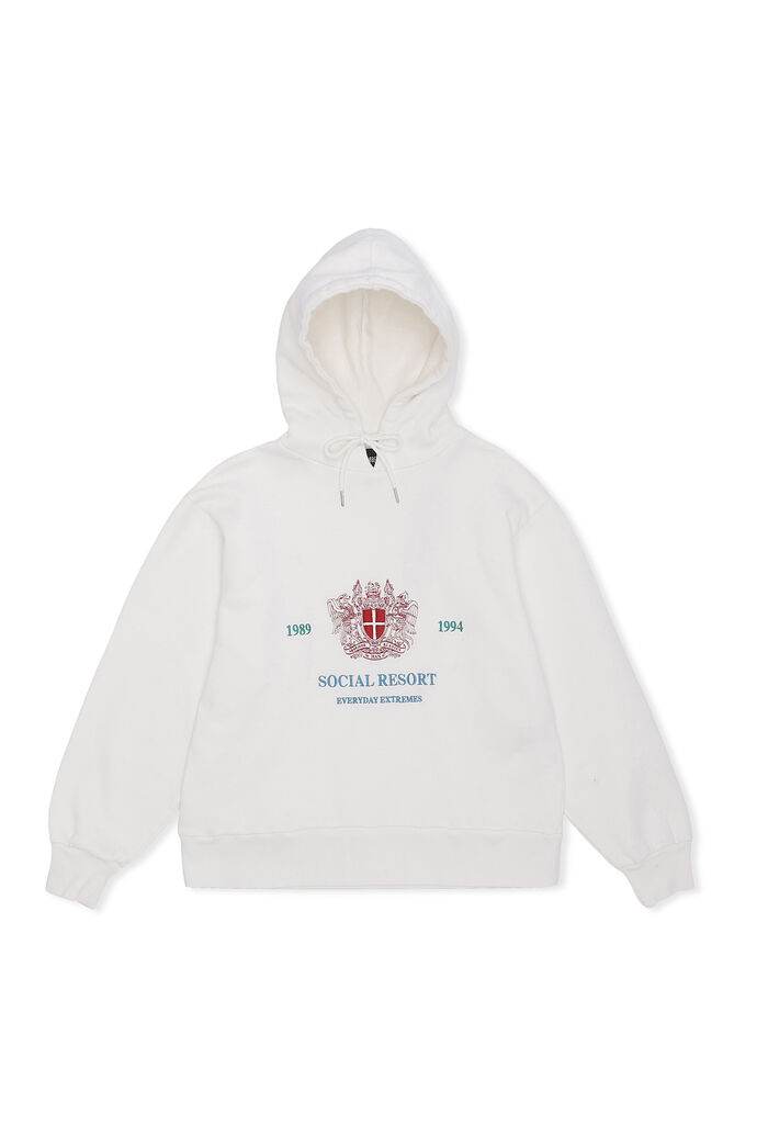 Bulky hoodie F-130127, OFF WHITE