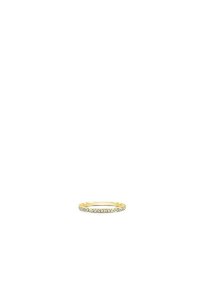 Simplicity ring IDR012GD, GOLD/WHITE