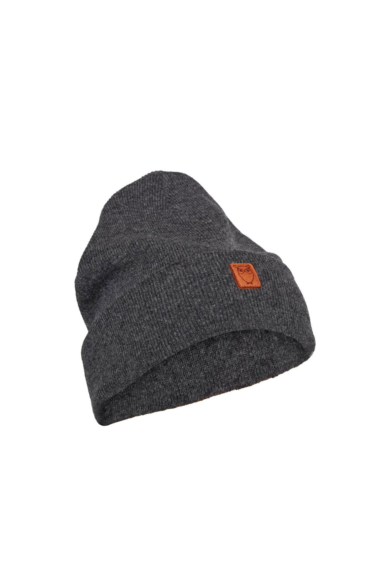 Beanie organic wool 82206, DARK GREY MELANGE