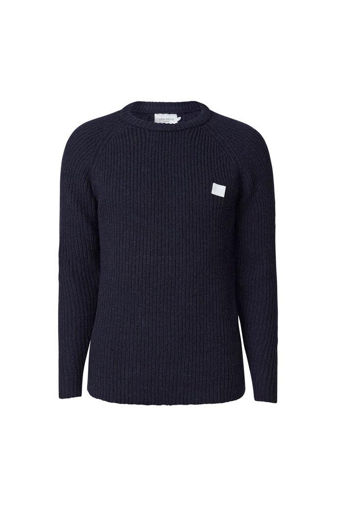 Piece wool knit LDM301024, DARK NAVY
