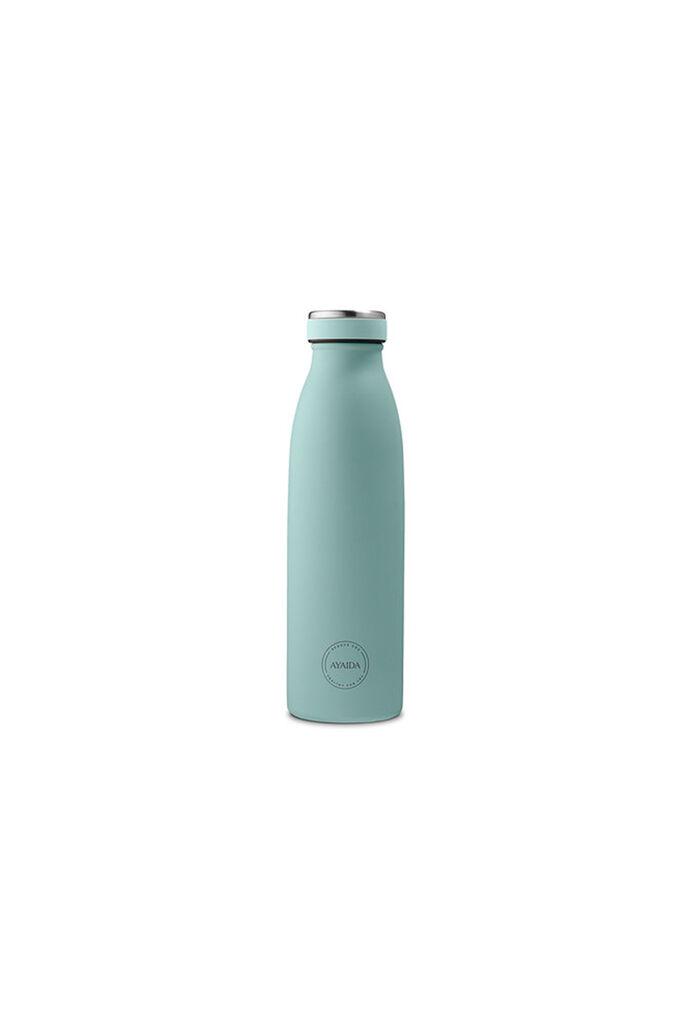 Mint green bottle