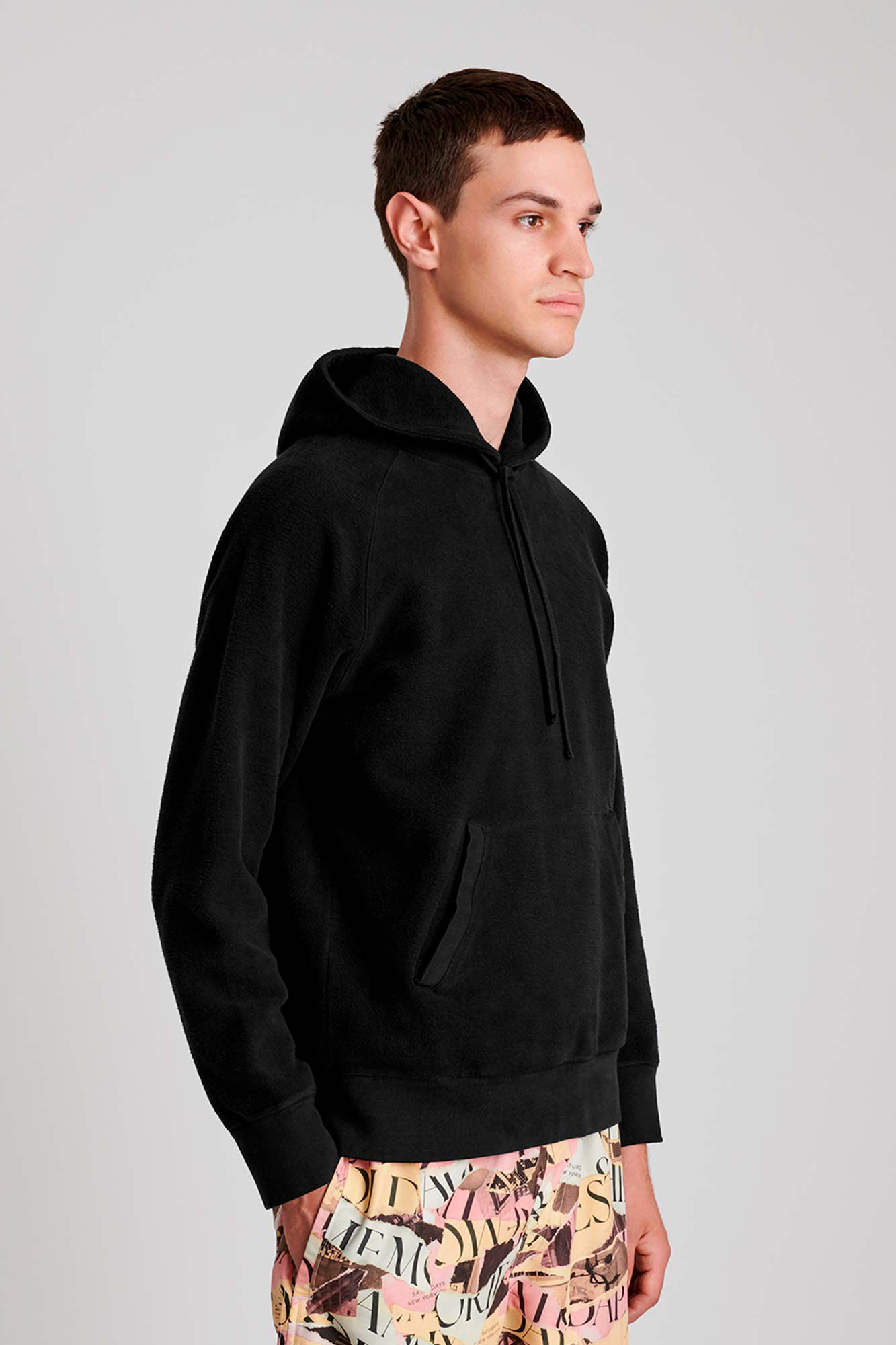 Ditch hooded, BLACK