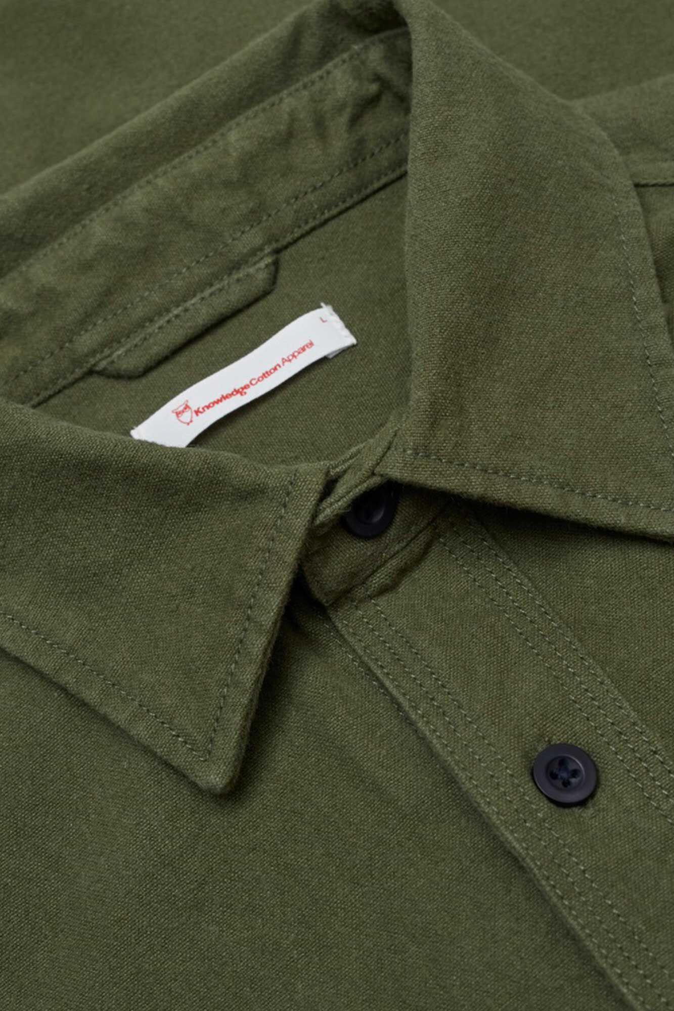 Long sleeve moleskin shirt, GREEN FOREST 1278