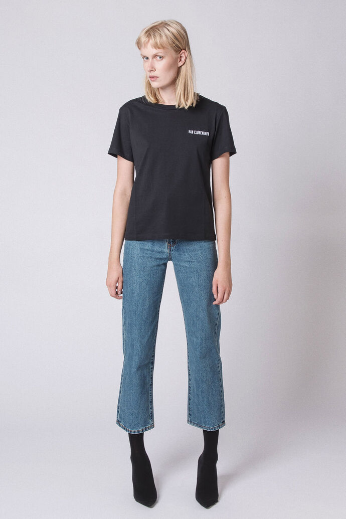 Casual Tee F-20001-11, BLACK LOGO