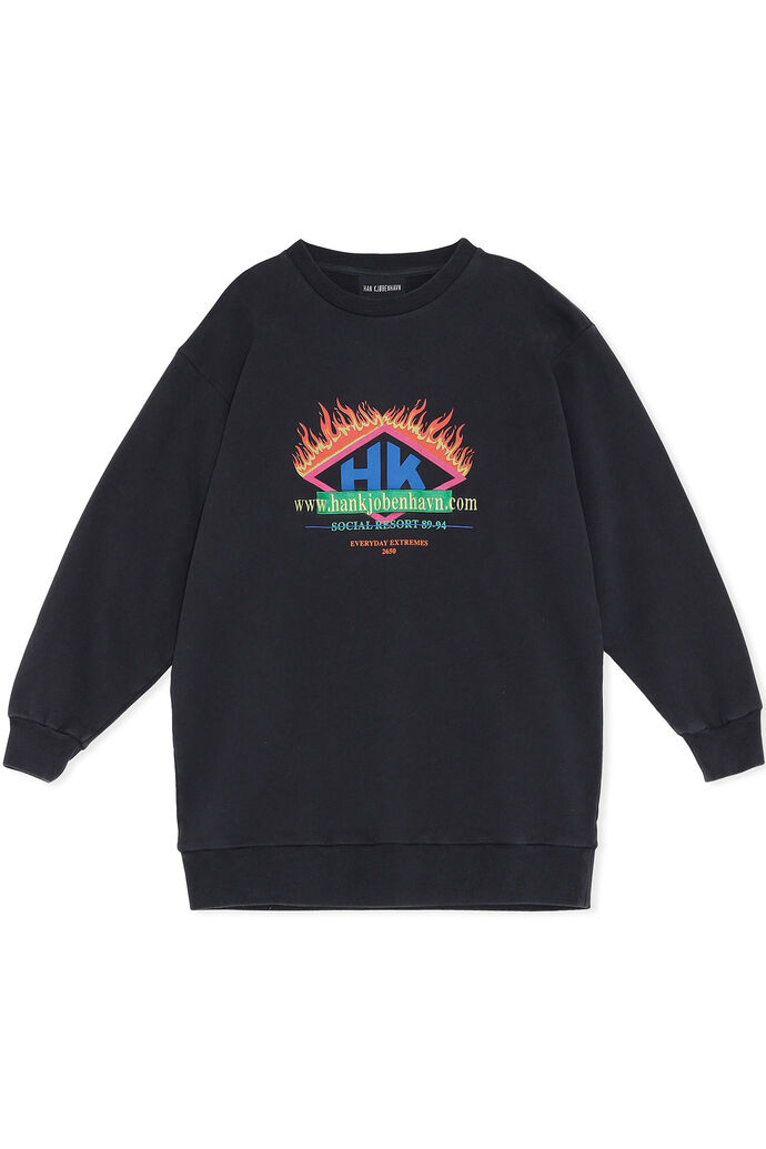 Relaxed crew F-130131, FADED BLACK