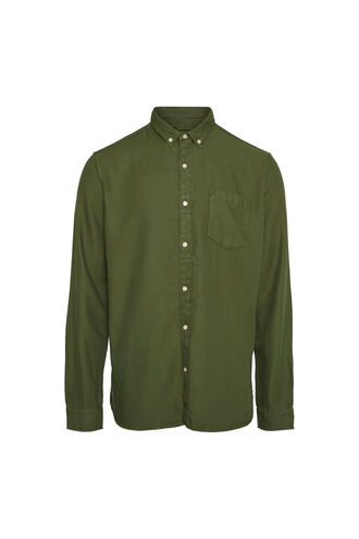 Twill shirt/Vegan 90686, GREEN FOREST