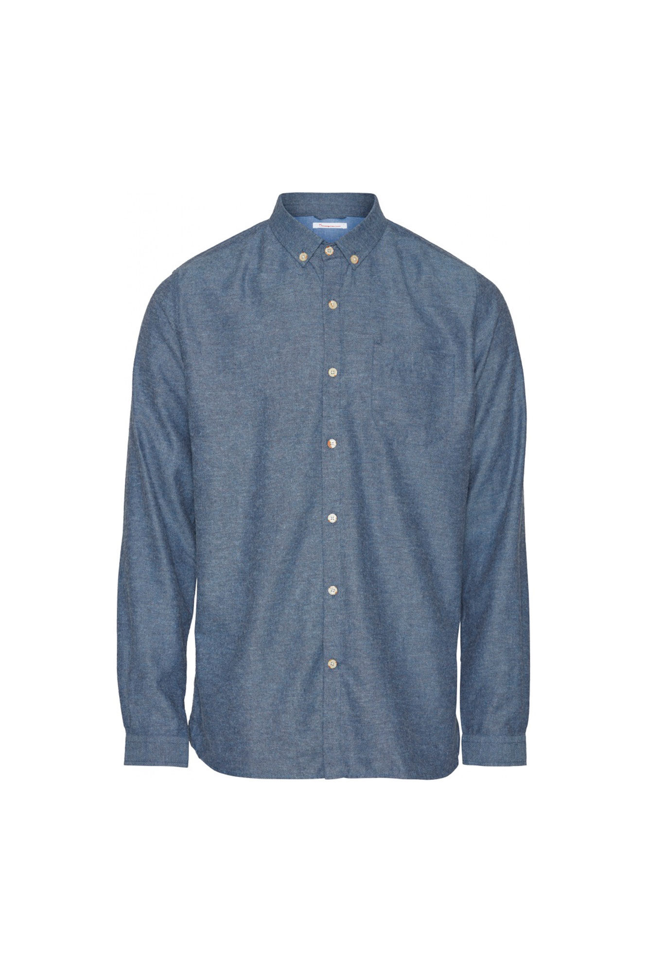 Melange Effect Flannel 90430, DARK DENIM