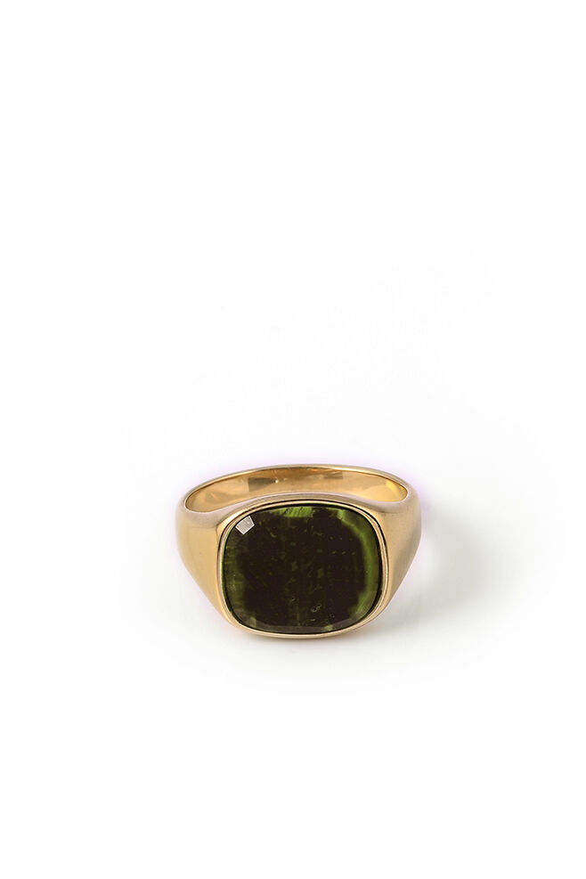 Himsel, GOLD - SQUARE GREEN MARBLE STO