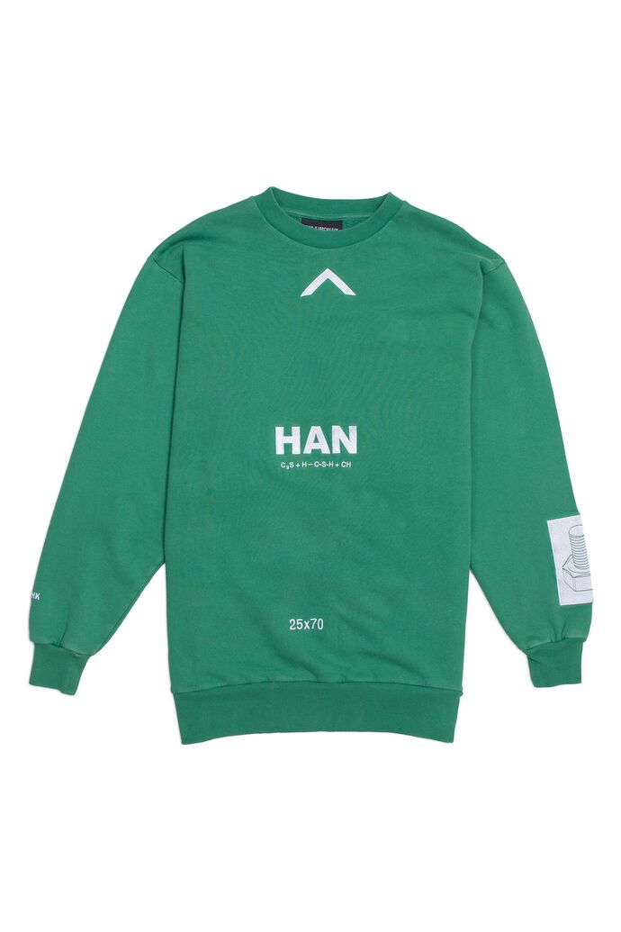 Relaxed crew F-130068, GREEN