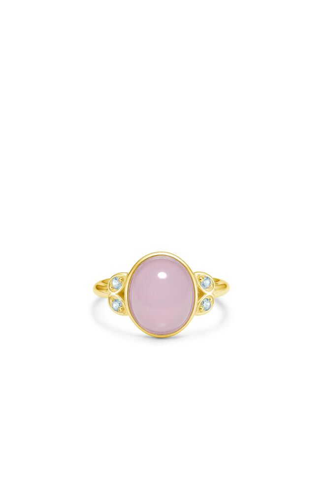 Magnolia oval ring IDR035GD, GOLD/ROSE
