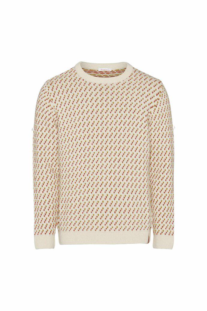 Valley jacquard o-neck knit