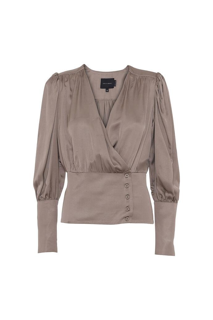 Mie blouse 3415370-042, CHINCHILLA