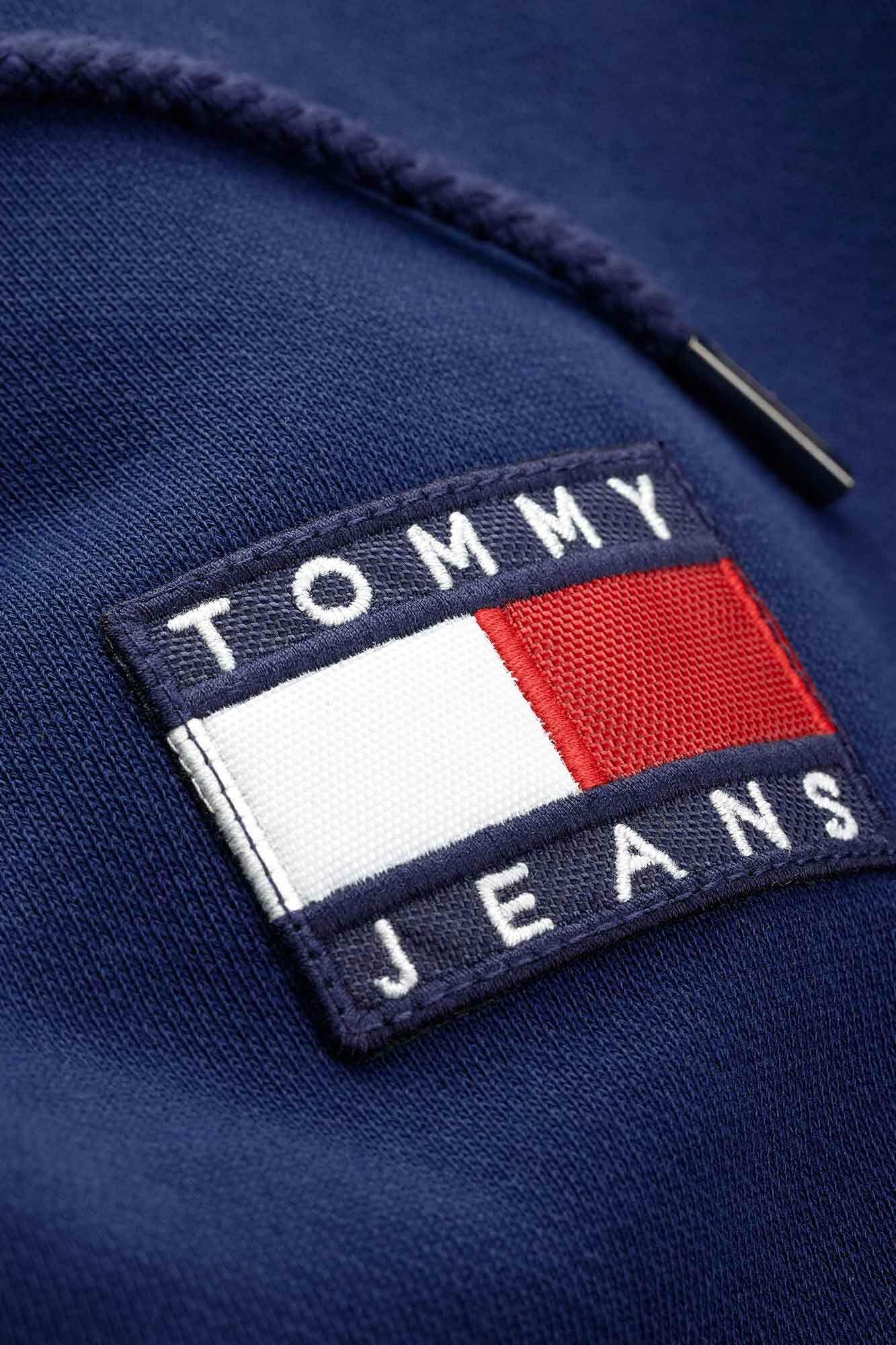 Tommy badge hooodie DM0DM06593, BLACK IRIS