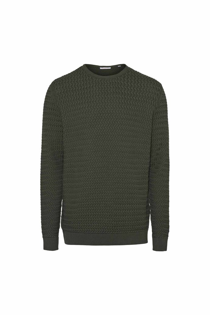 Field o-neck structured, FORREST NIGHT
