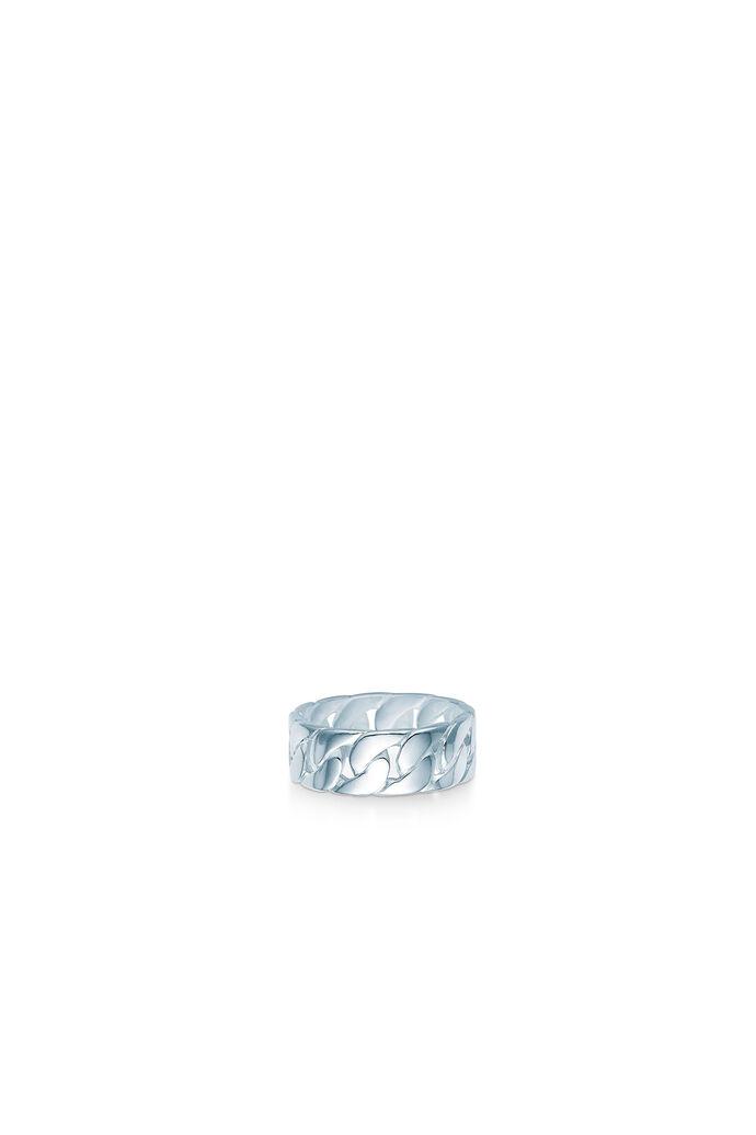 Curb chain ring, RHODIUM