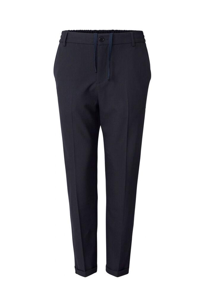 Pino elastic waist pants, DARK NAVY