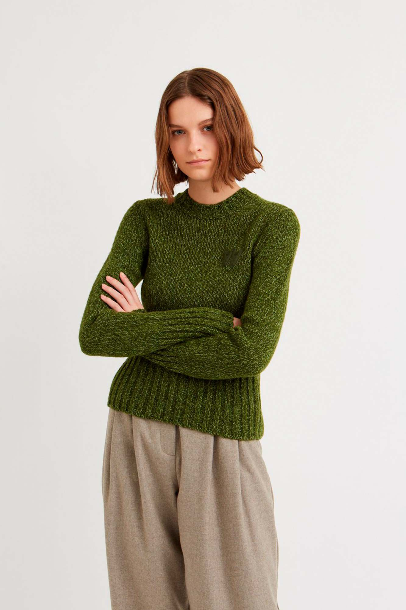 Olga sweater 11931002-4141, DARK GREEN