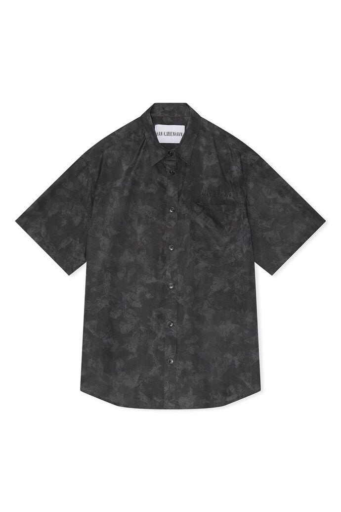 Boxy shirt M-130333, BLACK