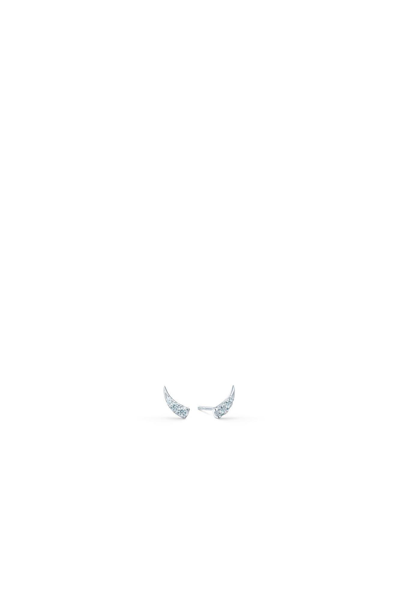 Glace earstuds IDS021RH, RHODIUM/WHITE