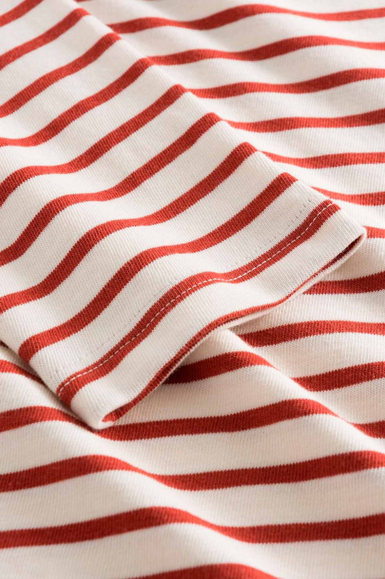 Mel long sleeve 10945402-2323, OFF-WHITE/RUST STRIPES