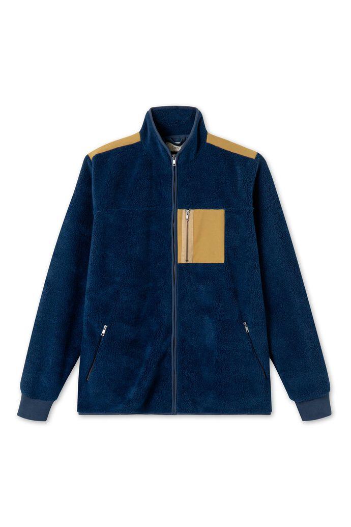 Cabin fleece jacket 678, NAVY/OLIVE