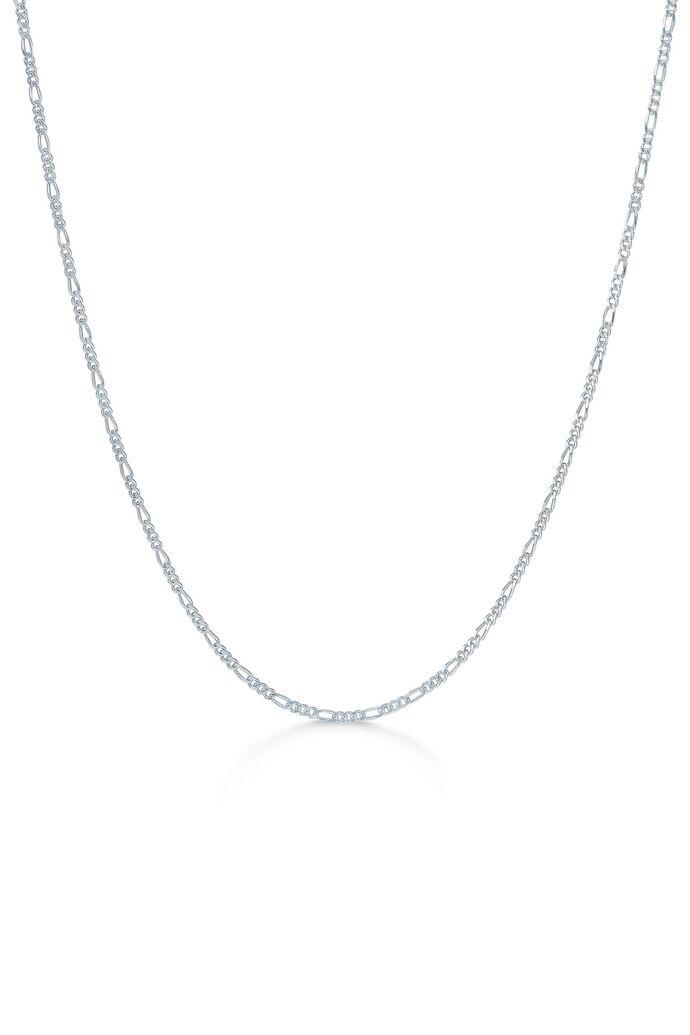 Figaro chain necklace, RHODIUM
