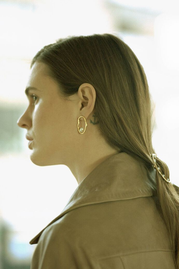 Nugget earring 100729YG