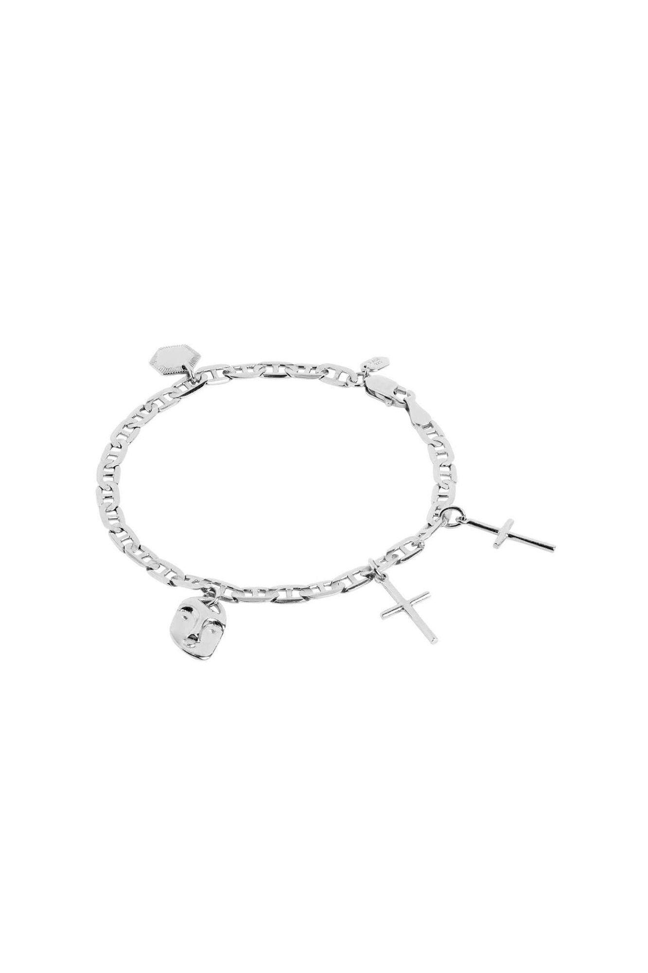 Friend charm bracelet 400232AG, SILVER HP