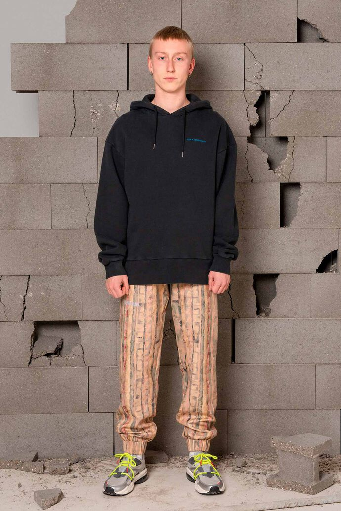 Bulky hoodie M-120054, FADED BLACK