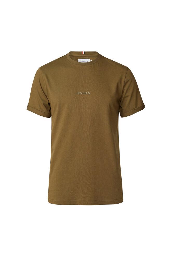 Lens t-shirt LDM101046, DARK OLIVE GREEN