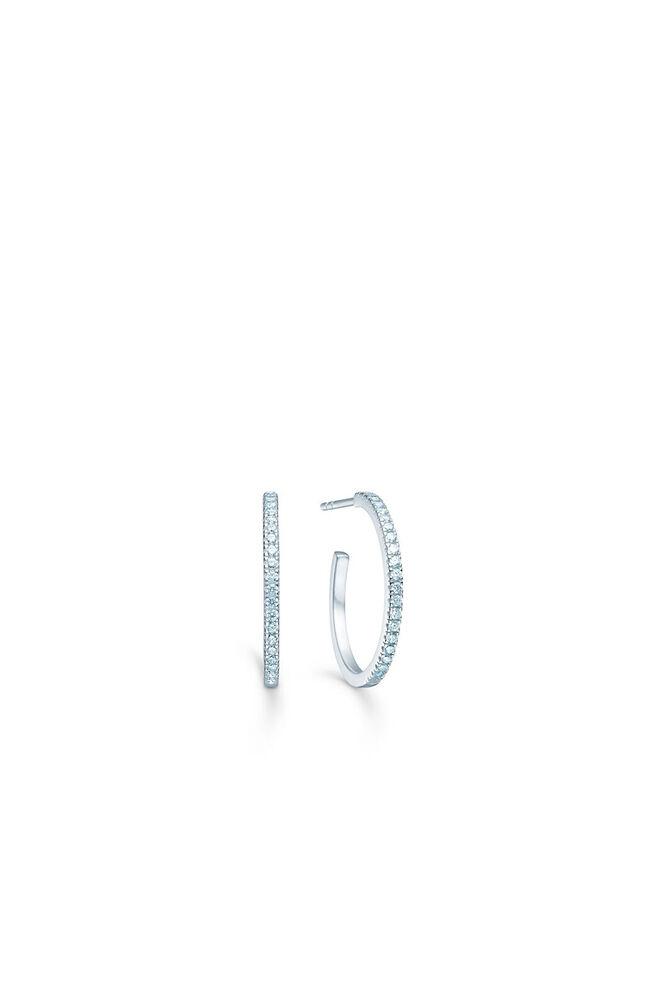 Simplicty hoops IDH010RH, RHODIUM/WHITE