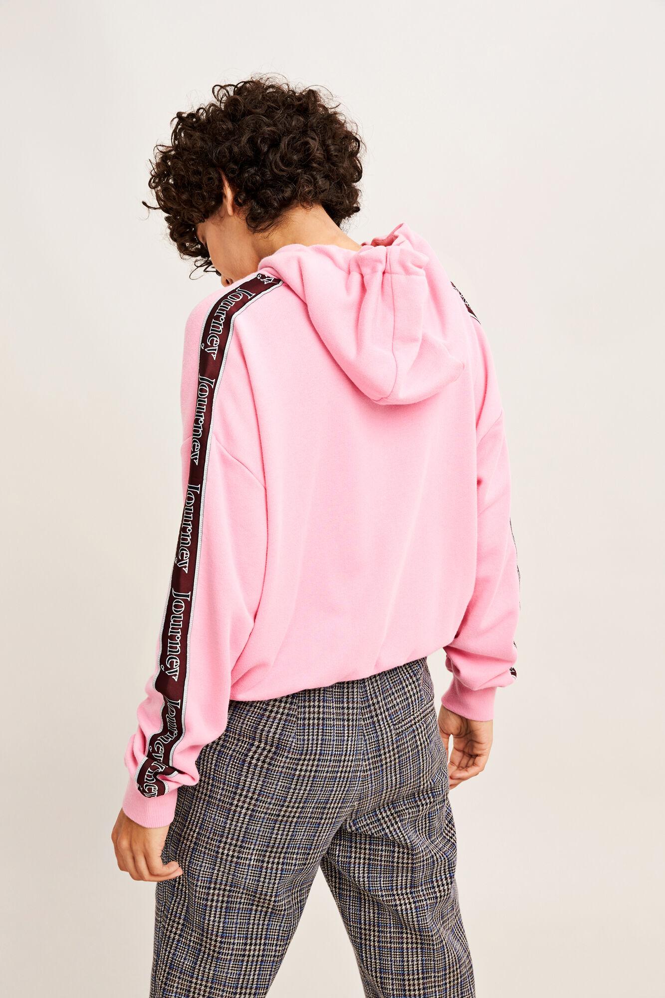 Kelsey zip tape hoodie 9683, ROSE JOURNEY