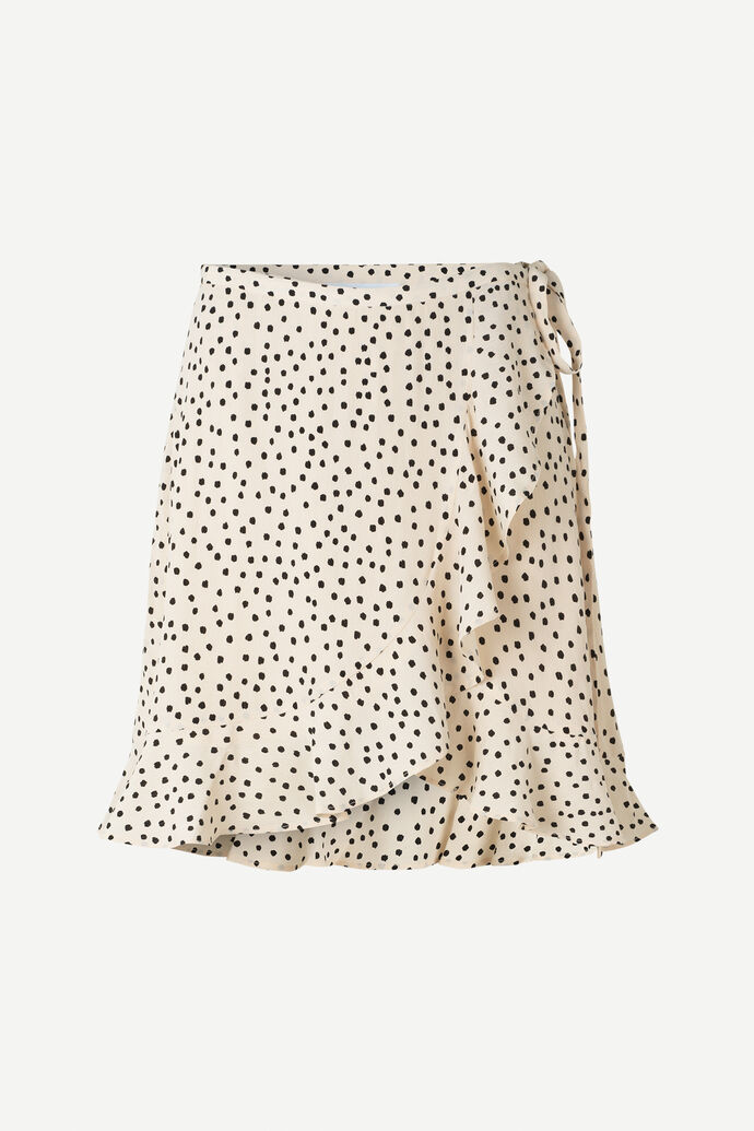 Limon s wrap skirt aop 10867, BLACK DROPS