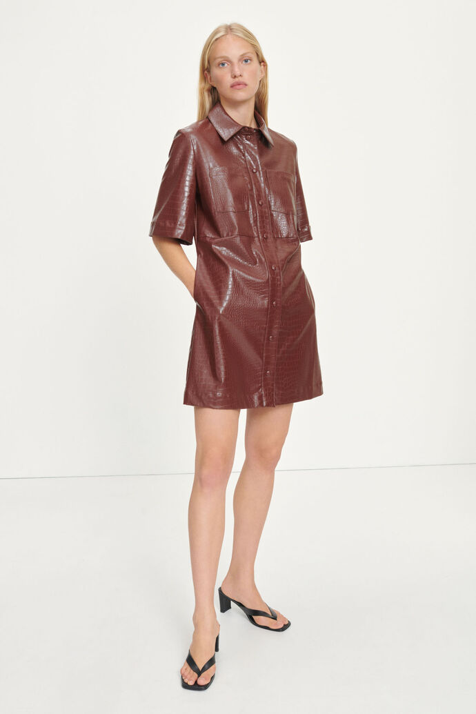Myla dress 13102, CHOCOLATE FONDANT