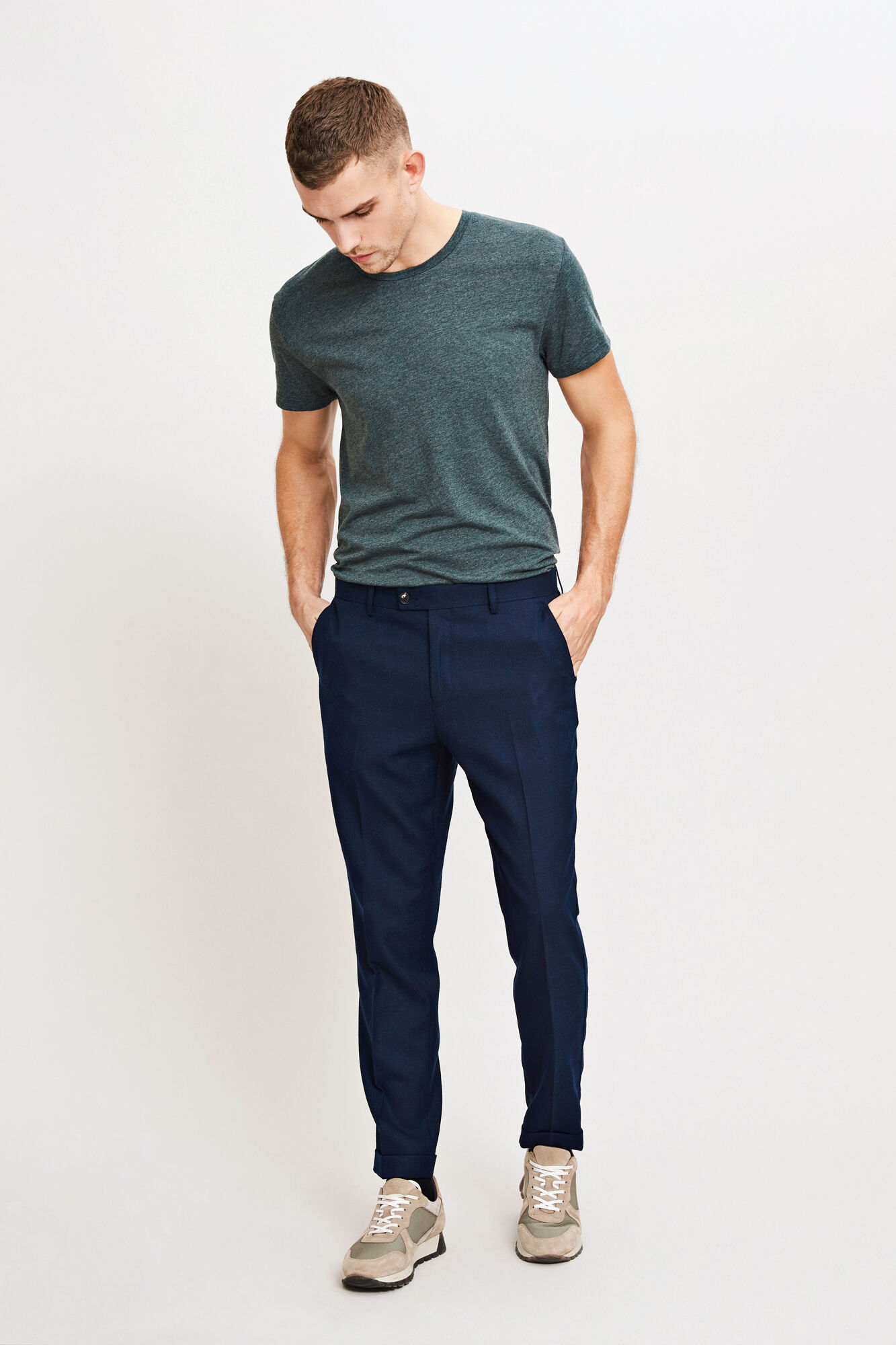 Laurent pants fold up 6567