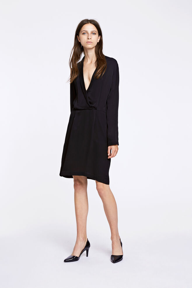Bette ls dress 8325, BLACK