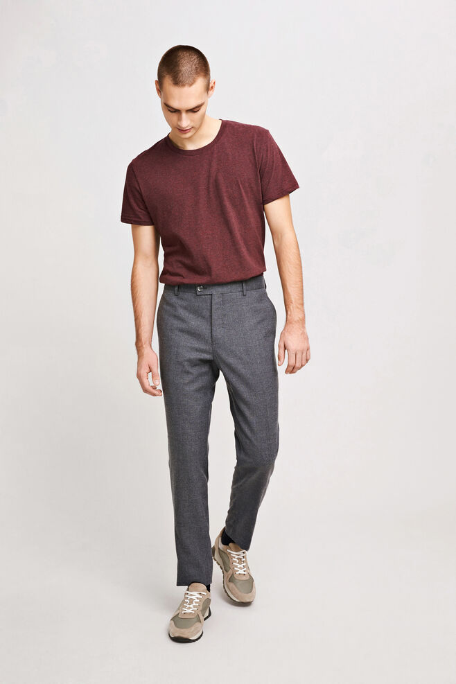 Laurent pants 6568, DARK GREY MEL.