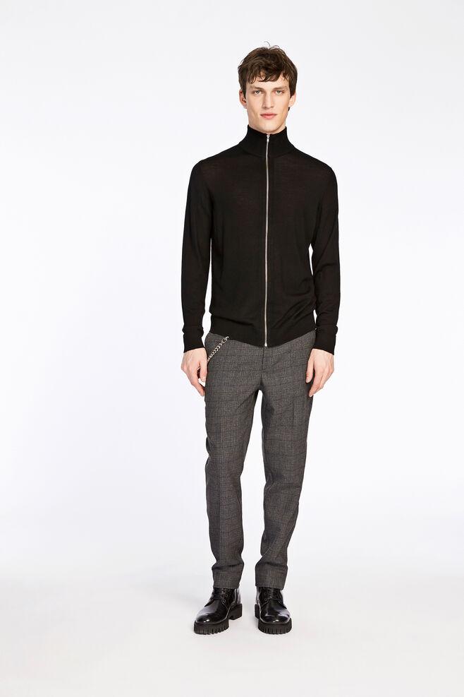 Minya zip cardigan 3111, BLACK