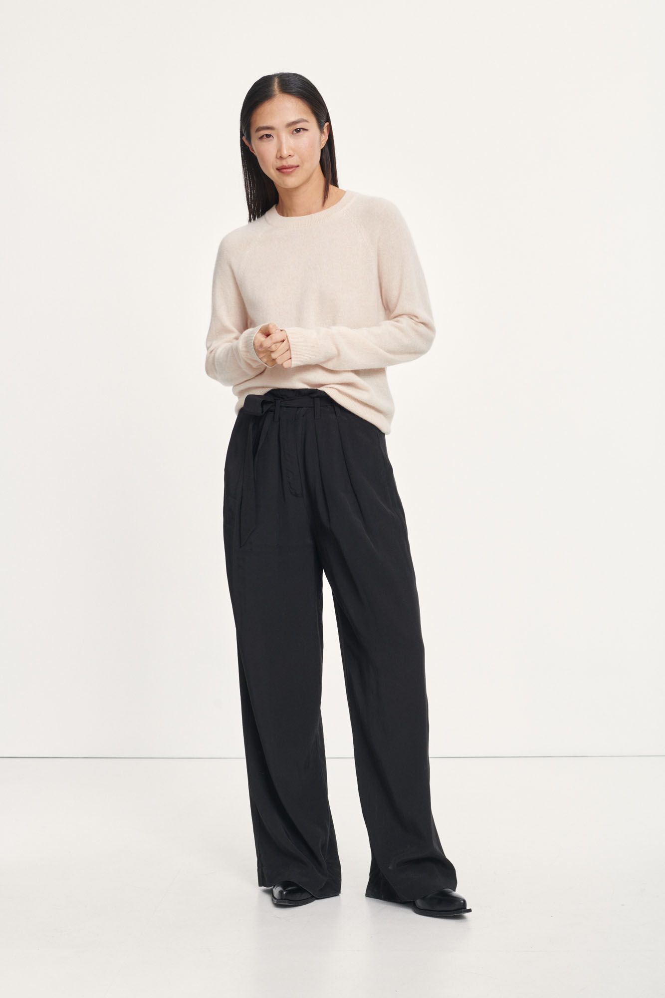 Mell trousers 12768, BLACK