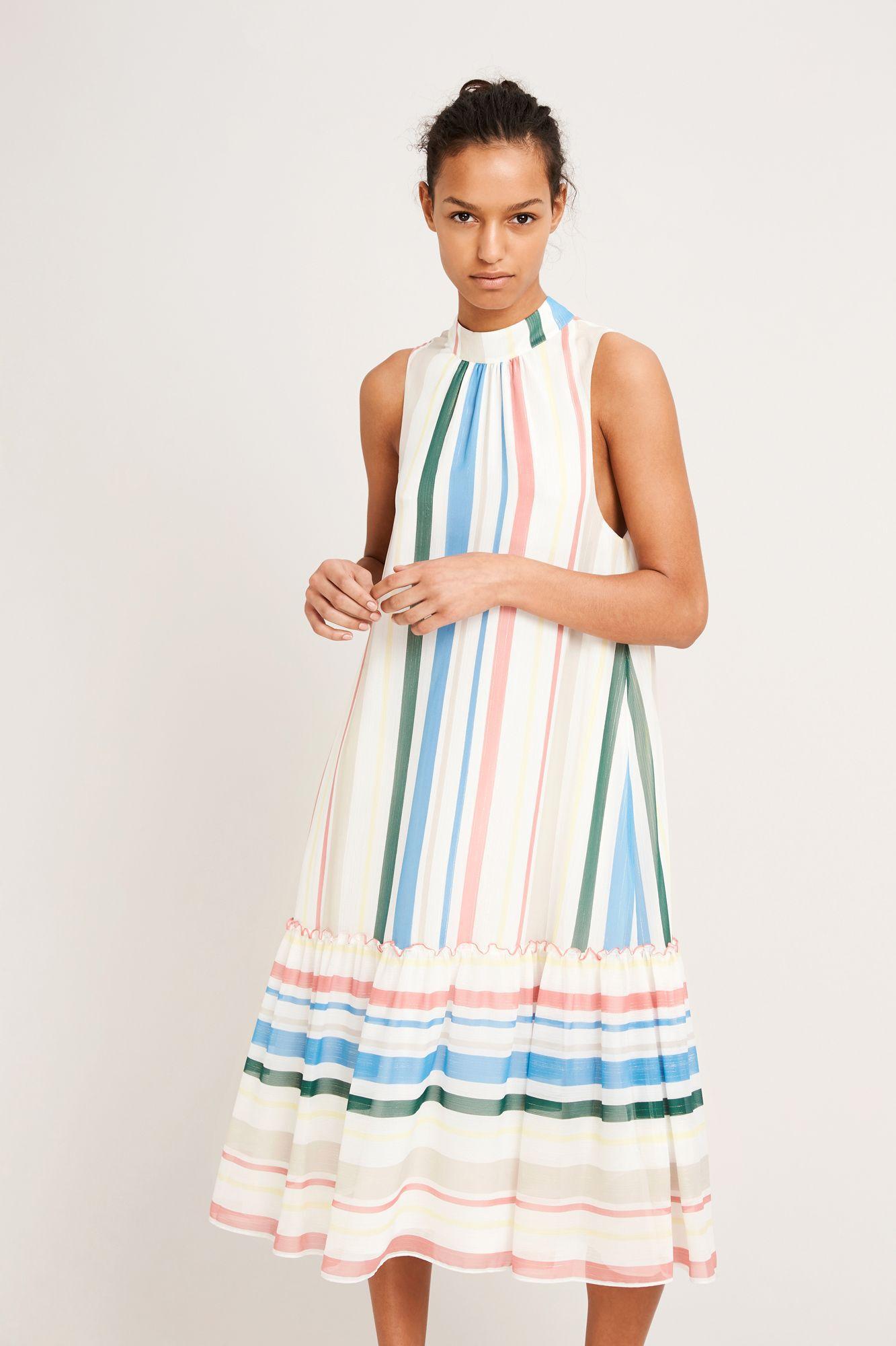 Sua l dress aop 9937, COTTAGE STRIPE
